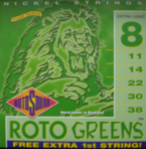 Roto Sound - Greens - 8/38 Elektrická gitara - R 8 - Extra Light