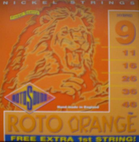 Roto Sound - Orange - 9/46 Elektrická gitara - RH 9 - Hybrid