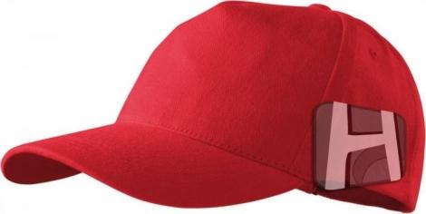 Červená 5P šiltovka - Tkaninový vrch, plná