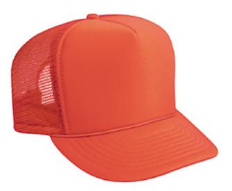 Oranžová sieťkovaná šiltovka