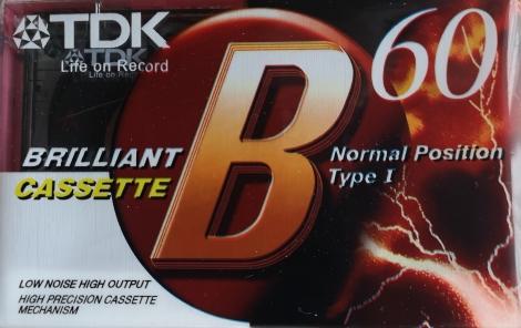 Magnetofónová kazeta TDK B60 - Audiokazeta TDK B60