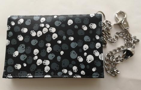 Lebkový vzor - Šedé a biele lebky (Peňaženka)
