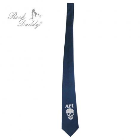 AFI - Modrá kravata s lebkou
