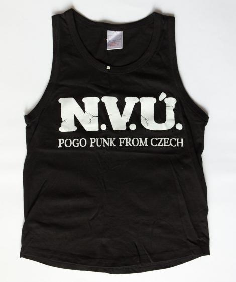 N.V.Ú. (tielko) - Biele logo