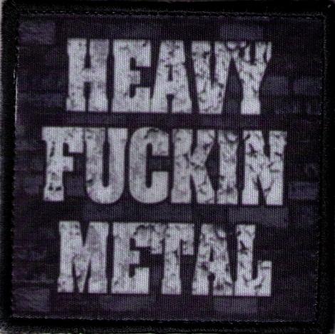HEAVY FUCKIN METAL 02 - Fotonášivka s nápisom