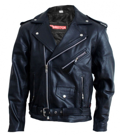 KOŽENÁ SIDOVKA - Kožená motorkárska bunda