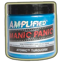 TYRKYSOVÁ (Manic Panic) - Atomic Turquoise – Amplified