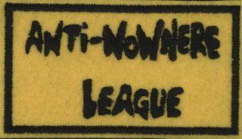 ANTI-NOWHERE LEAGUE - Čierne logo na žltom podklade