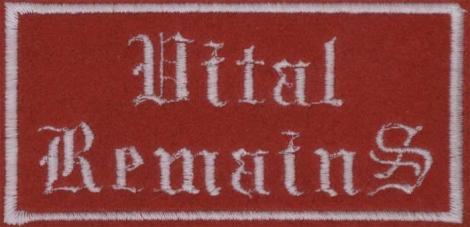 VITAL REMAINS - biele logo