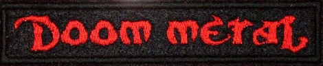 DOOM METAL - Červené logo