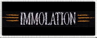 IMMOLATION - Biele logo