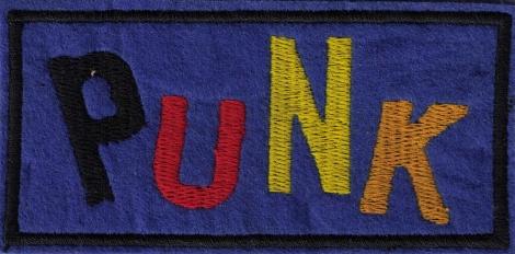 PUNK - FAREBNÝ - Punk nápis