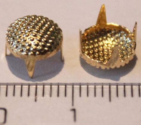 BUBÁK BODKOVANÝ 8 mm ZLATÝ - Jednotlivý vybíjanec