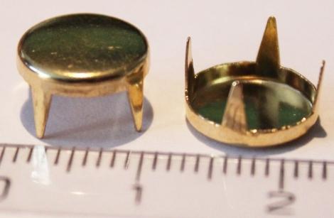 BUBÁK PLOCHÝ 10 mm ZLATÝ - Jednotlivý vybíjanec