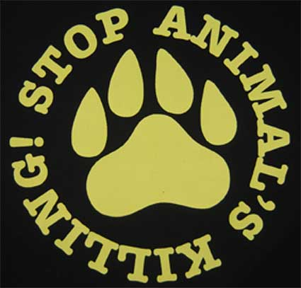 STOP ANIMAL´S KILLING! 02 - Slogan + zvieracia laba