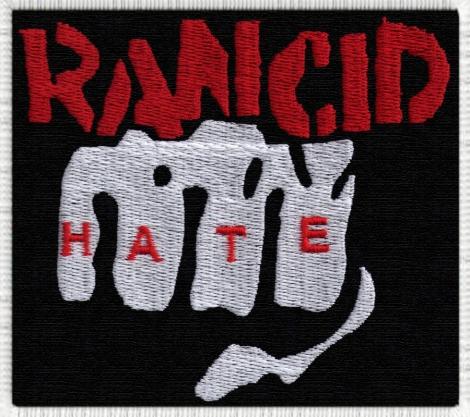 RANCID 03 - Logo s päsťou s nápisom HATE