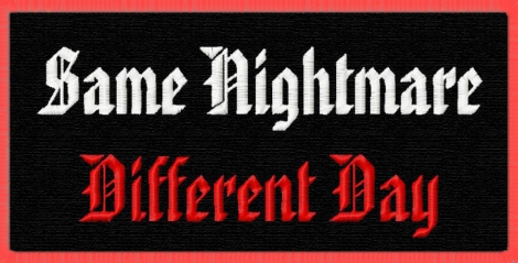 SAME NIGHTMARE DIFFERENT DAY - Logo