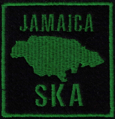 JAMAICA SKA - VÝPREDAJ - Mapa Jamajky - zelená na čiernom