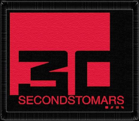 30 SECONDS TO MARS - VÝPREDAJ - Štvorcové logo kapely