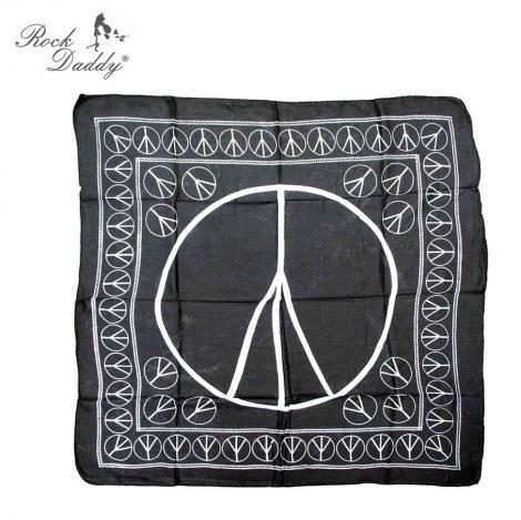 PEACE - Čierna šatka