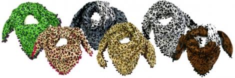Šatka s gepardím vzorom - Rôzne farby