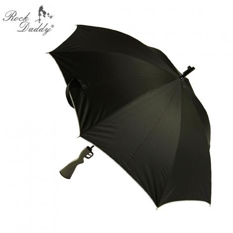 VZDUCHOVKA (menší) - Čierny dáždnik s rúčkou v tvare vzduchovky