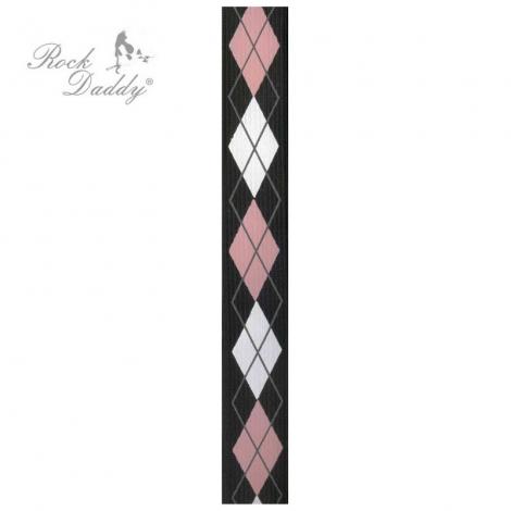 ČIERNE KAROVANÉ - Čierno-ružovo-biele traky