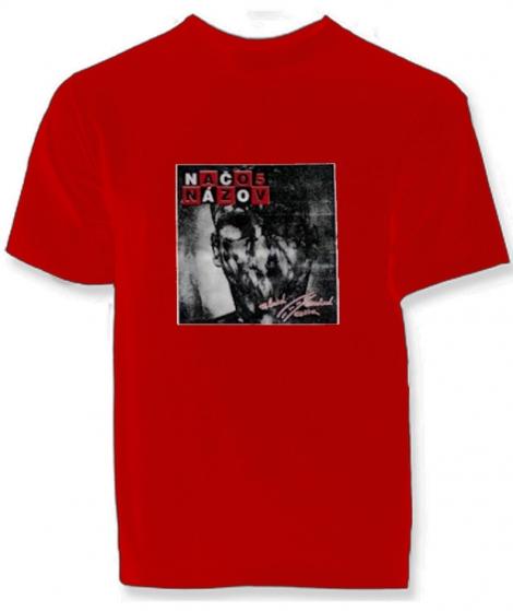 NAČO NÁZOV - Zlatá stredná cesta - červené tričko