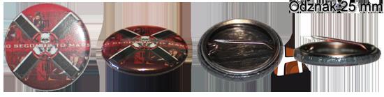 25 mm odznak - ukážka - HIRAX Shop