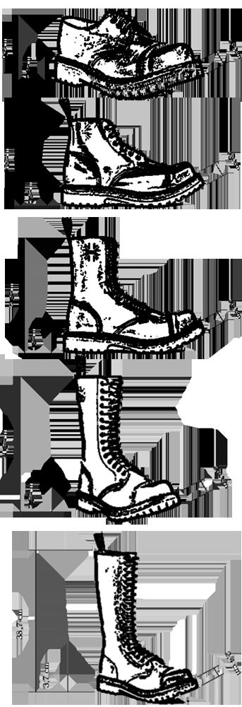 Topánky Steel - rozmery
