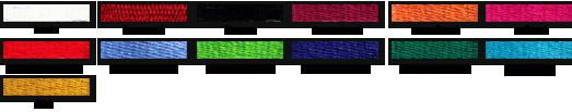 Vyšívateľné farby nití - HIRAX Shop